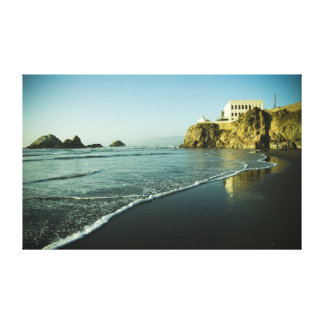 Cliff House, Beach. Canvas Print