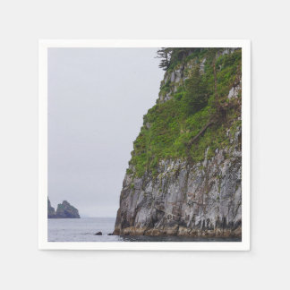 Cliff In Kenai Painterly Paper Napkin
