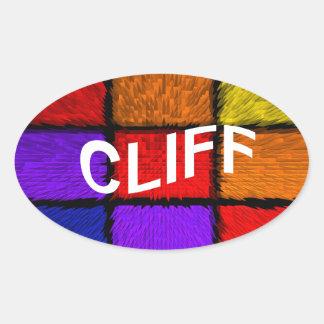 CLIFF OVAL STICKER