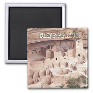 Cliff Palace Square Magnet