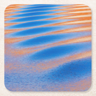 Cliff reflection in Lake Powell | Glen Canyon, UT Square Paper Coaster