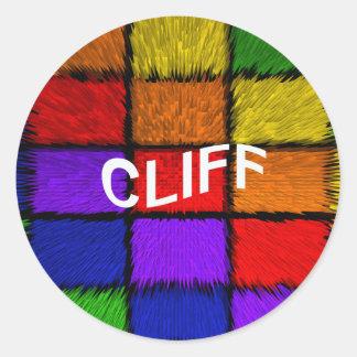 CLIFF ROUND STICKER