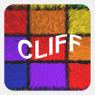 CLIFF SQUARE STICKER