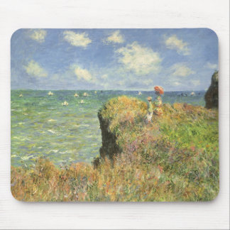 Cliff Walk at Pourville by Claude Monet Mouse Pad