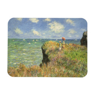 Cliff Walk at Pourville by Claude Monet Rectangular Photo Magnet
