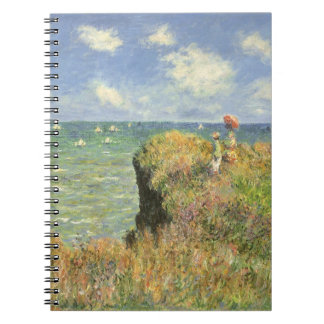 Cliff Walk at Pourville by Claude Monet Spiral Note Books