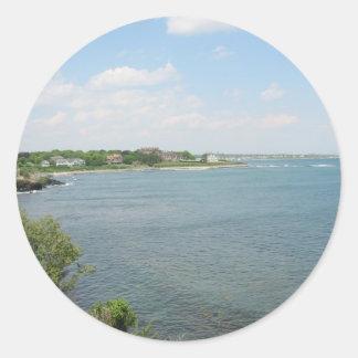 Cliff Walk Newport Rhode Island Round Sticker