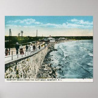Cliff Walk, Newport, RI Vintage Poster