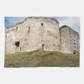Clifford's Tower in York  historical building. Hand Towel