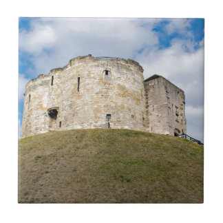 Clifford's Tower in York  historical building. Tile