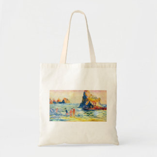 Cliffs at Guernsey by Pierre Renoir Budget Tote Bag