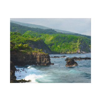 Cliffs in Maui Hawaii Canvas Print