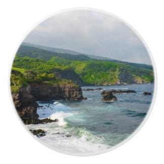Cliffs in Maui Hawaii Ceramic Knob
