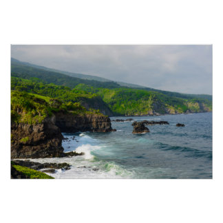 Cliffs in Maui Hawaii Poster