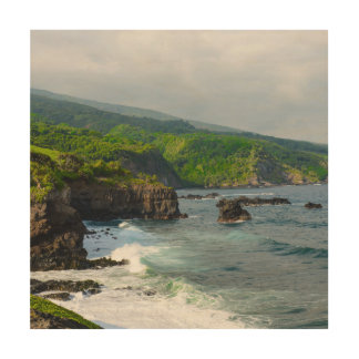 Cliffs in Maui Hawaii Wood Canvas