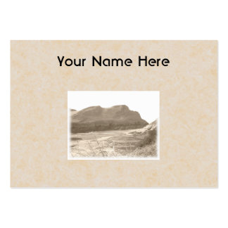 Cliffs in sepia color. On beige background. Large Business Card