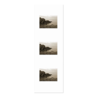 Cliffs in sepia color. On White Background. Mini Business Card
