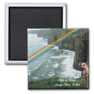 Cliffs of Moher Ireland Design #3 Square Magnet