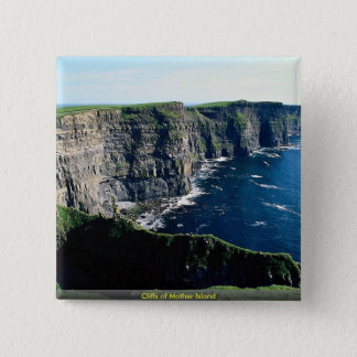 Cliffs of Mother Island 2 Inch Square Button