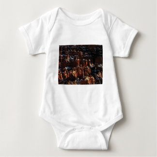 cliffs of the red rock of snow baby bodysuit