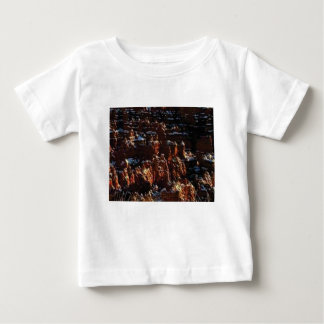 cliffs of the red rock of snow baby T-Shirt