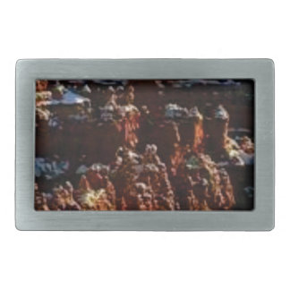 cliffs of the red rock of snow belt buckle