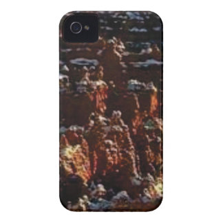 cliffs of the red rock of snow Case-Mate iPhone 4 case