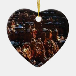 cliffs of the red rock of snow ceramic ornament