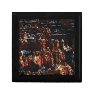 cliffs of the red rock of snow gift box