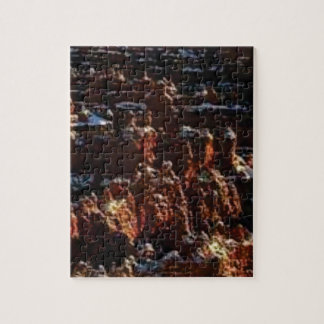 cliffs of the red rock of snow jigsaw puzzle
