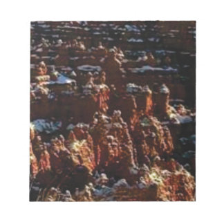 cliffs of the red rock of snow notepad