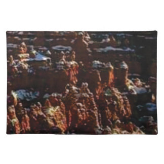 cliffs of the red rock of snow placemat