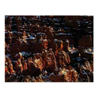 cliffs of the red rock of snow postcard