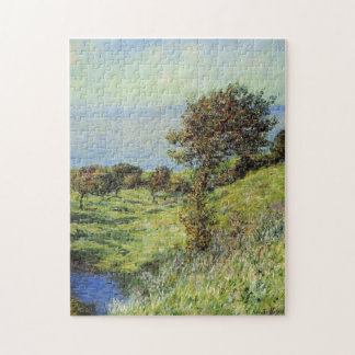 Cliffs Varengeville Gust of Wind Monet Fine Art Jigsaw Puzzle