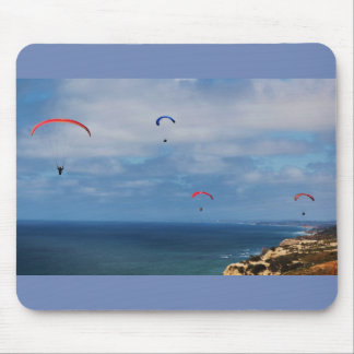 Cliffside Ocean Paragliders Mouse Pad