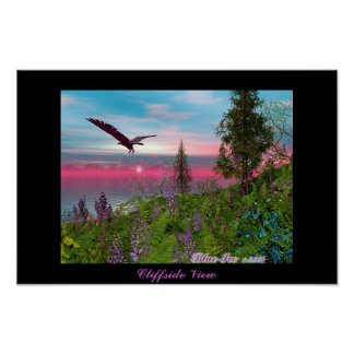 Cliffside View Poster