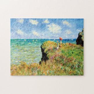 Clifftop Walk at Pourville by Claude Monet Jigsaw Puzzle