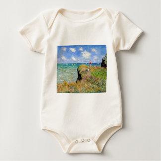 Clifftop Walk at Pourville - Claude Monet Baby Bodysuit