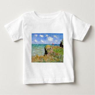 Clifftop Walk at Pourville - Claude Monet Baby T-Shirt