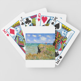 Clifftop Walk at Pourville - Claude Monet Bicycle Playing Cards