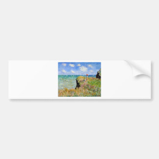 Clifftop Walk at Pourville - Claude Monet Bumper Sticker