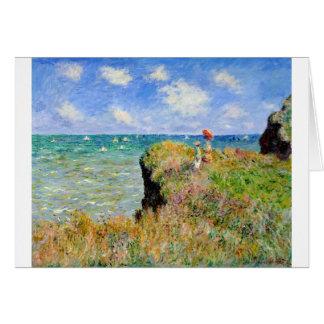 Clifftop Walk at Pourville - Claude Monet Card