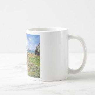 Clifftop Walk at Pourville - Claude Monet Coffee Mug