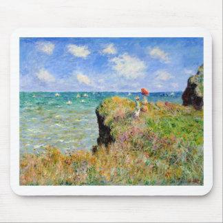 Clifftop Walk at Pourville - Claude Monet Mouse Pad