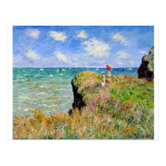 Clifftop Walk at Pourville - Claude Monet Postcard