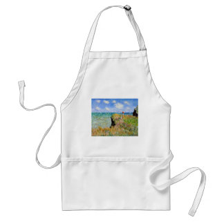 Clifftop Walk at Pourville - Claude Monet Standard Apron