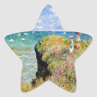 Clifftop Walk at Pourville - Claude Monet Star Sticker
