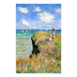 Clifftop Walk at Pourville - Claude Monet Stationery