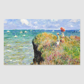 Clifftop Walk at Pourville - Claude Monet Sticker