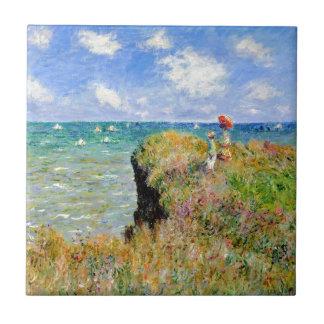 Clifftop Walk at Pourville - Claude Monet Tile